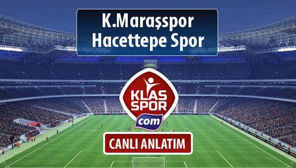 K.Maraşspor - Hacettepe Spor sahaya hangi kadro ile çıkıyor?