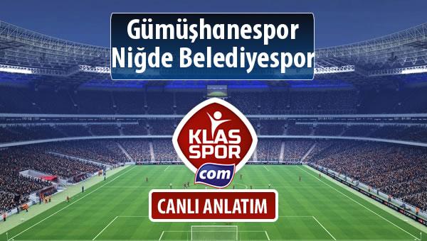 İşte Gümüşhanespor - Niğde Belediyespor maçında ilk 11'ler