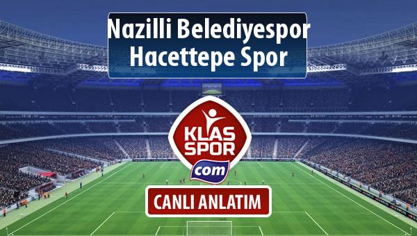 Nazilli Belediyespor - Hacettepe Spor maç kadroları belli oldu...
