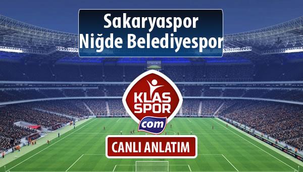 Sakaryaspor - Niğde Belediyespor sahaya hangi kadro ile çıkıyor?