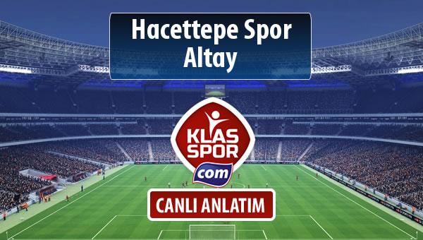 Hacettepe Spor - Altay maç kadroları belli oldu...
