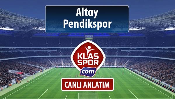 Altay - Pendikspor sahaya hangi kadro ile çıkıyor?