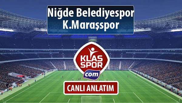 Niğde Belediyespor - K.Maraşspor maç kadroları belli oldu...