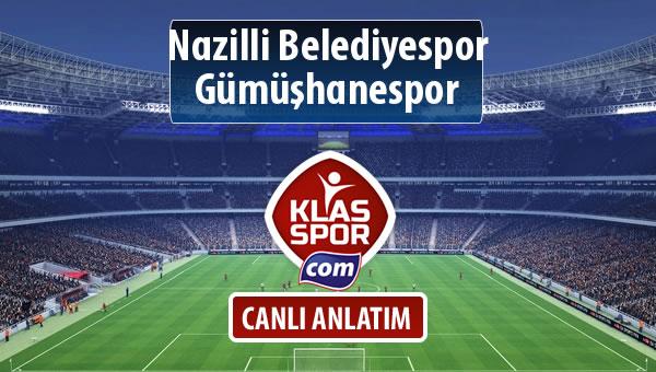 Nazilli Belediyespor - Gümüşhanespor maç kadroları belli oldu...