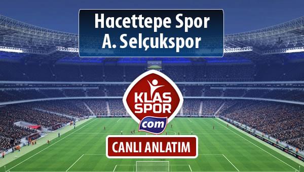 İşte Hacettepe Spor - A. Selçukspor maçında ilk 11'ler