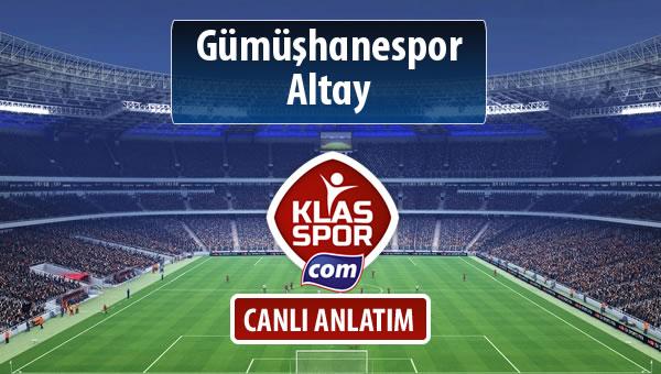 İşte Gümüşhanespor - Altay maçında ilk 11'ler