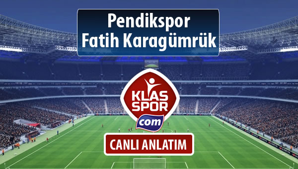 İşte Pendikspor - Fatih Karagümrük maçında ilk 11'ler