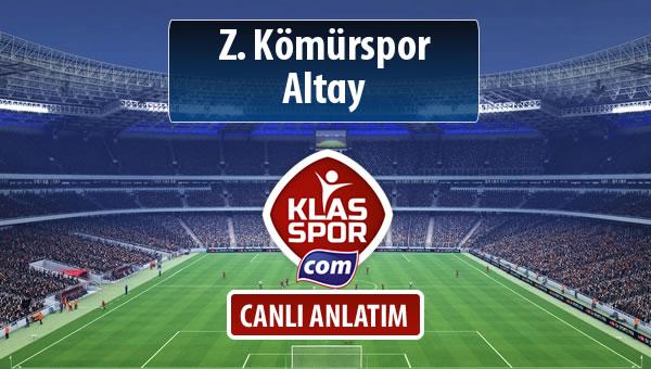 Z. Kömürspor - Altay sahaya hangi kadro ile çıkıyor?