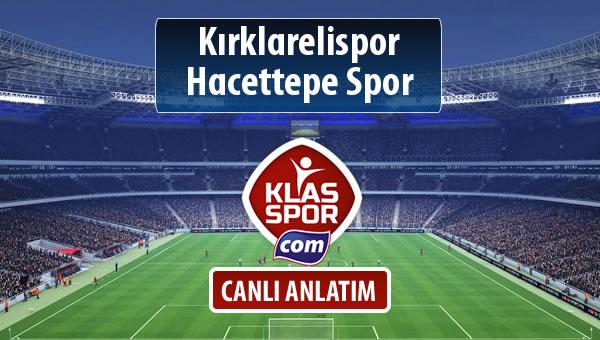 Kırklarelispor - Hacettepe Spor maç kadroları belli oldu...