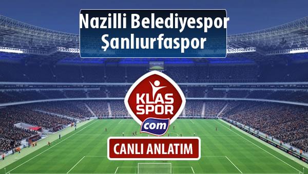 Nazilli Belediyespor - Şanlıurfaspor maç kadroları belli oldu...