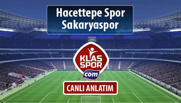 Hacettepe Spor - Sakaryaspor maç kadroları belli oldu...