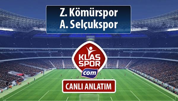 Z. Kömürspor - A. Selçukspor sahaya hangi kadro ile çıkıyor?