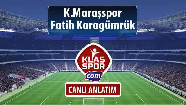 K.Maraşspor - Fatih Karagümrük sahaya hangi kadro ile çıkıyor?