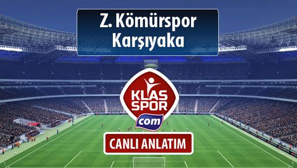 Z. Kömürspor - Karşıyaka maç kadroları belli oldu...
