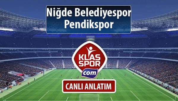 Niğde Belediyespor - Pendikspor maç kadroları belli oldu...