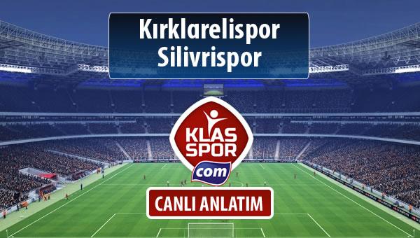 Kırklarelispor - Silivrispor maç kadroları belli oldu...