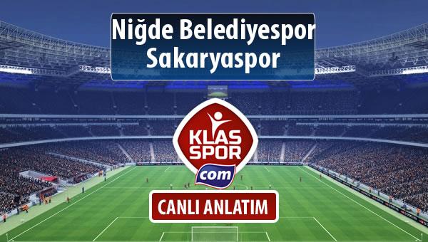 Niğde Belediyespor - Sakaryaspor maç kadroları belli oldu...