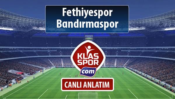 Fethiyespor - Bandırmaspor maç kadroları belli oldu...