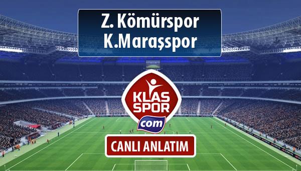 Z. Kömürspor - K.Maraşspor sahaya hangi kadro ile çıkıyor?