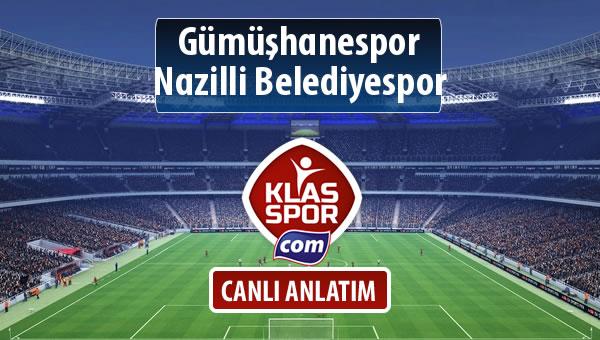 Gümüşhanespor - Nazilli Belediyespor maç kadroları belli oldu...