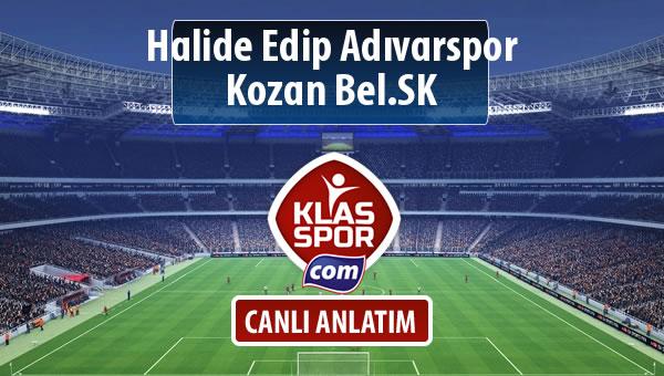 İşte Halide Edip Adıvarspor - Kozan Bel.SK maçında ilk 11'ler