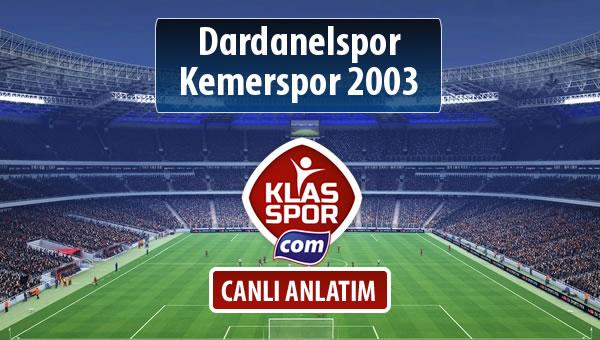 İşte Dardanelspor - Kemerspor 2003 maçında ilk 11'ler