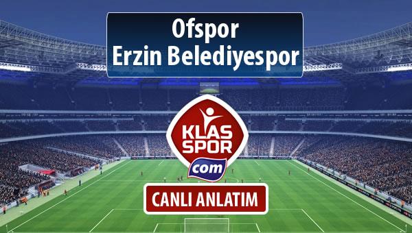 Ofspor - Erzin Belediyespor maç kadroları belli oldu...