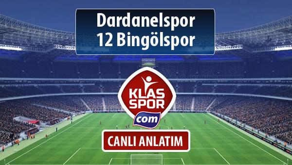 Dardanelspor - 12 Bingölspor sahaya hangi kadro ile çıkıyor?