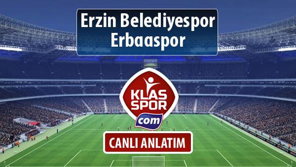 Erzin Belediyespor - Erbaaspor sahaya hangi kadro ile çıkıyor?