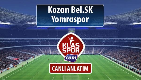 Kozan Bel.SK - Yomraspor sahaya hangi kadro ile çıkıyor?