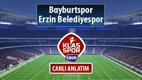 Bayburtspor - Erzin Belediyespor sahaya hangi kadro ile çıkıyor?