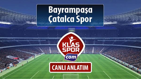İşte Bayrampaşa - Çatalca Spor maçında ilk 11'ler