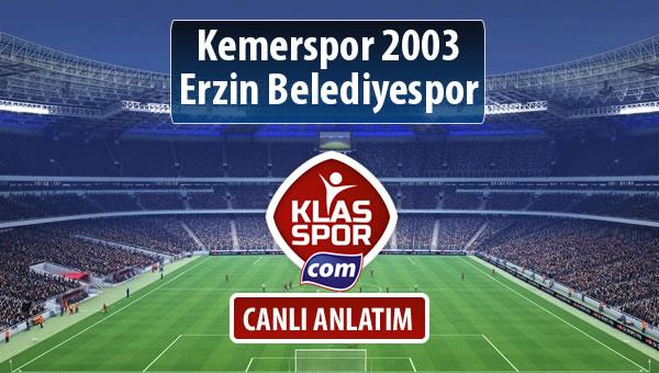 Kemerspor 2003 - Erzin Belediyespor maç kadroları belli oldu...