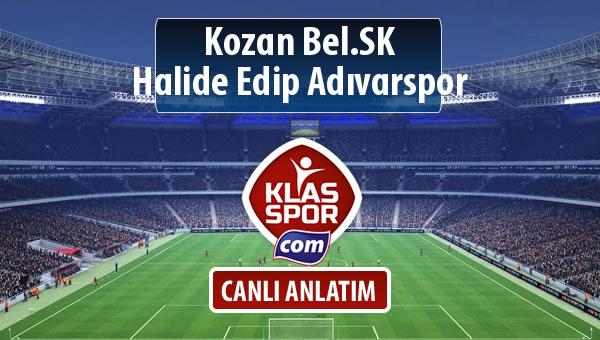 İşte Kozan Bel.SK - Halide Edip Adıvarspor maçında ilk 11'ler