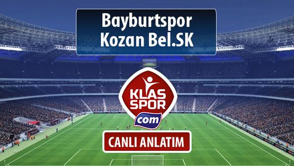 Bayburtspor - Kozan Bel.SK sahaya hangi kadro ile çıkıyor?