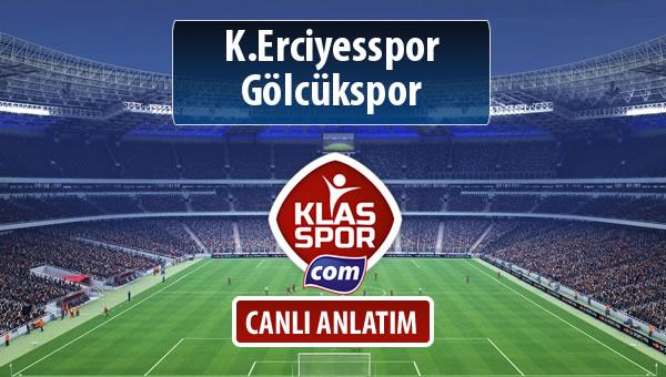 K.Erciyesspor - Gölcükspor sahaya hangi kadro ile çıkıyor?