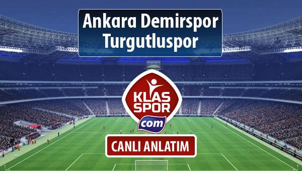 İşte Ankara Demirspor - Turgutluspor maçında ilk 11'ler