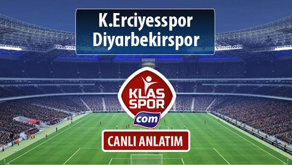 İşte K.Erciyesspor - Diyarbekirspor maçında ilk 11'ler