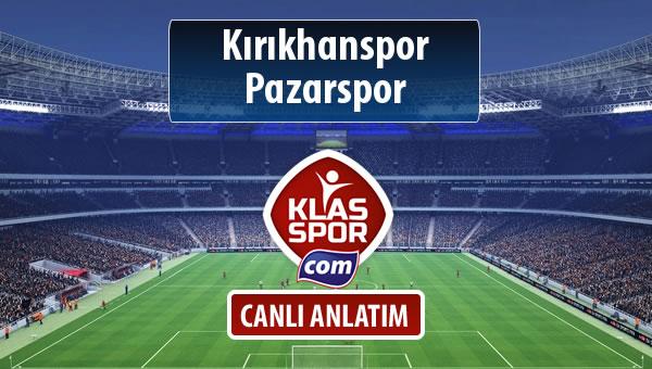 Kırıkhanspor - Pazarspor maç kadroları belli oldu...