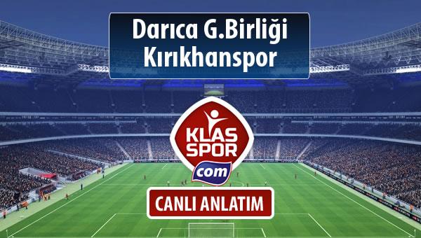 Darıca G.Birliği - Kırıkhanspor maç kadroları belli oldu...