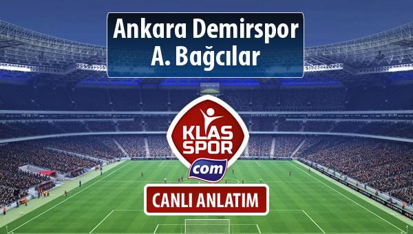 Ankara Demirspor - A. Bağcılar sahaya hangi kadro ile çıkıyor?