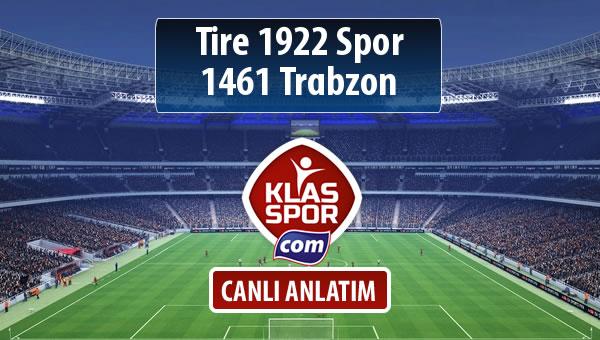 Tire 1922 Spor - 1461 Trabzon maç kadroları belli oldu...
