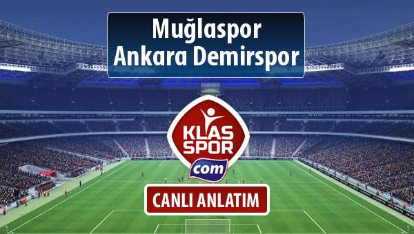 Muğlaspor - Ankara Demirspor maç kadroları belli oldu...