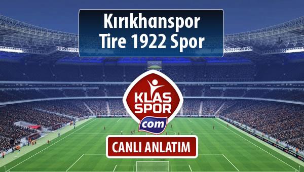Kırıkhanspor - Tire 1922 Spor maç kadroları belli oldu...