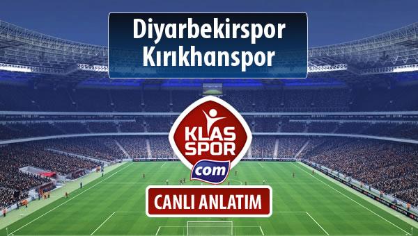 Diyarbekirspor - Kırıkhanspor sahaya hangi kadro ile çıkıyor?