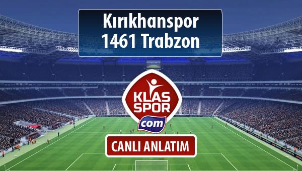 İşte Kırıkhanspor - 1461 Trabzon maçında ilk 11'ler