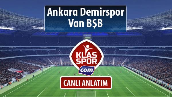 İşte Ankara Demirspor - Van BŞB maçında ilk 11'ler