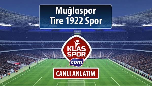 Muğlaspor - Tire 1922 Spor maç kadroları belli oldu...