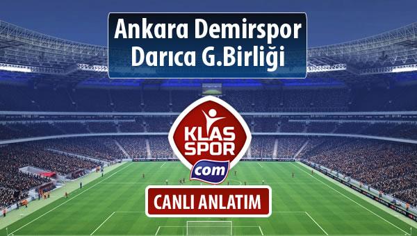 Ankara Demirspor - Darıca G.Birliği maç kadroları belli oldu...