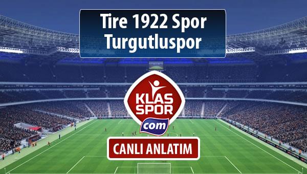 Tire 1922 Spor - Turgutluspor sahaya hangi kadro ile çıkıyor?